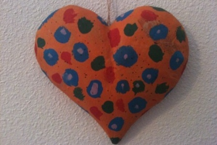 Papier-Mâché Heart From My First Patient