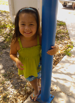 Thrombosis survivor Arianna Pena, Texas Children's Heart Center