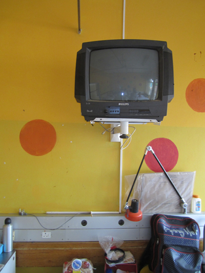 Non-functional TV in Oncology Ward at Princess Marina Hospital, which we hope to fix soon