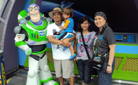 Mayte Sanchez and family at Disney World