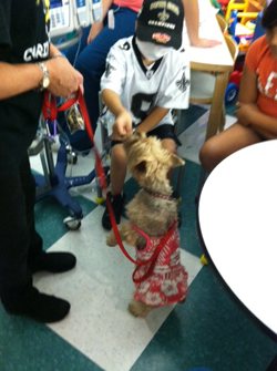 Pet therapy at Texas Children's Hospital