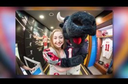 Embedded thumbnail for Patients get chance to visit NBC's Sunday Night Football Bus