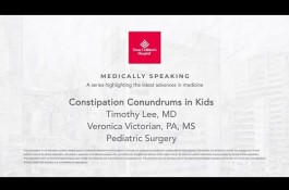 Embedded thumbnail for Medically Speaking: Constipation Conundrums in Kids
