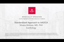 Embedded thumbnail for Medically Speaking: Standardized Approach to AAOCA