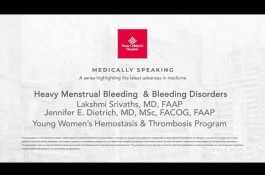 Embedded thumbnail for Medically Speaking: Heavy Menstrual Bleeding & Bleeding Disorders