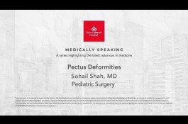Embedded thumbnail for Medically Speaking - Pectus Deformities