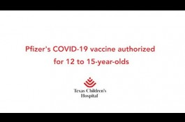 Embedded thumbnail for Pfizer's COVID-19 vaccine authorized for 12 to 15-year-olds