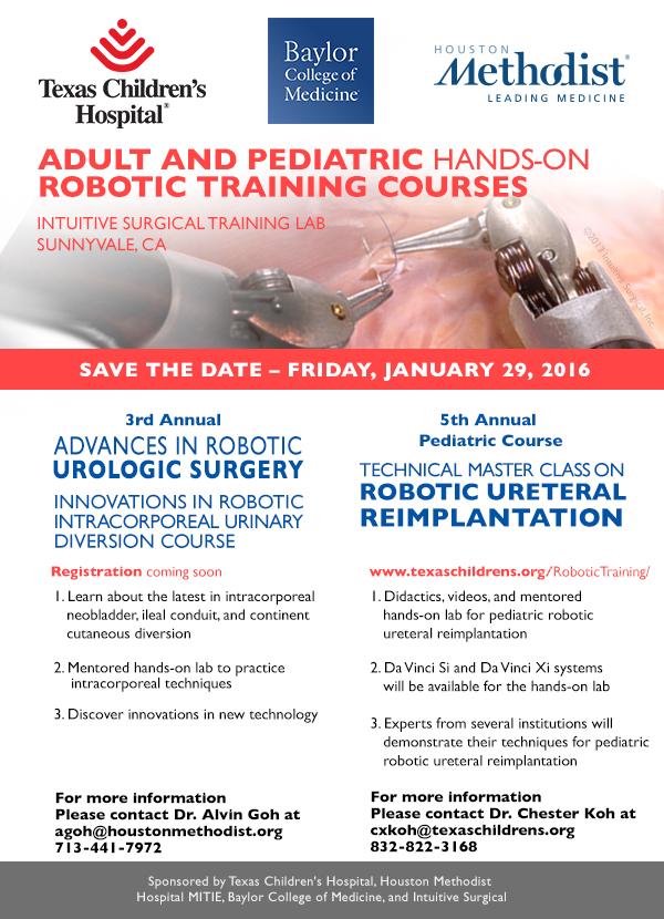 Robotic Surgery Training Course Texas Children S Hospital